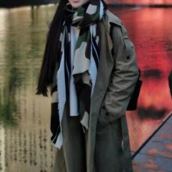 Zara Camouflage scarf.